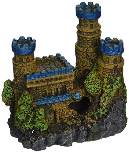 Blue Ribbon Pet Products Resin Ornament - Medieval Castle Mini Blue 4