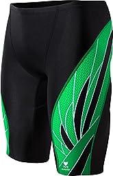 TYR  Men\'s Phoenix Splice Jammer Swimsuit (Black/Green, 26)