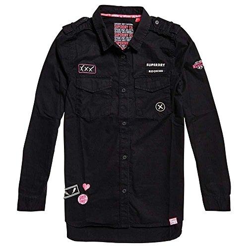 Noir Chemise Shirt Superdry 02a G40003tq Militaire xw0anqOX