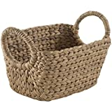 Compactor Home Storage Small Water Hyacinth Caracas Basket, Brown by Compactor Home Storage