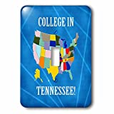 Beverly Turner College in - United States Map, College in Tennessee, Heart and Car with Luggage - Light Switch Covers - single toggle switch (lsp_233533_1)