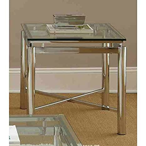 Amazoncom Greyson Living Natal Chrome And Glass End Table Kitchen