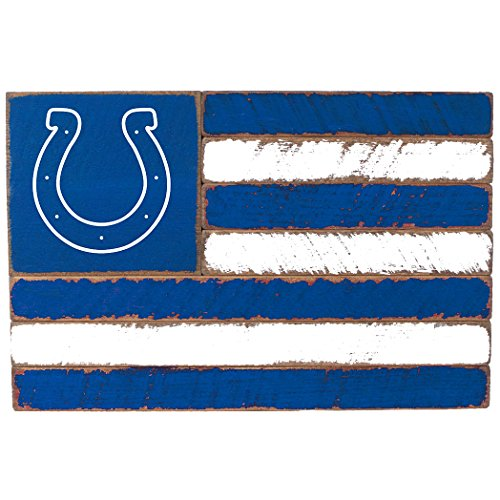 Rustic Marlin Designs NFL Indianapolis Colts Team Flag Sign, 13