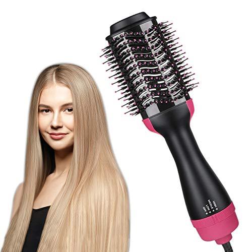 Hair Dryer Brush, JAHUL 3 in 1 Hot Air Brush Hair Dryer and Volumizer Styler, Salon Negative Ionic Blow Dryer Brush Straightener & Curler