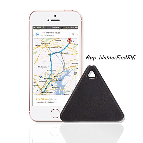 ZIZON Triangle Smart Blutooth tracker Anti-lost Anti-Theft Alarm Device  Tracker Remote Shutter GPS for Phone/Car/Key/Pets/Kids/Wallets/Luggage  Finder