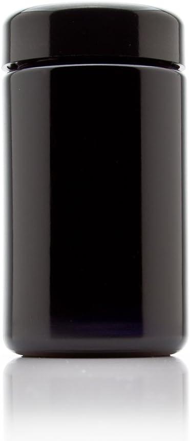 Infinity Jars 200 ml (6.7 fl oz) Tall Black Ultraviolet Glass Screw Top Jar 3-Pack