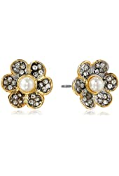 Juicy Couture Pave Daisy Stud Earrings