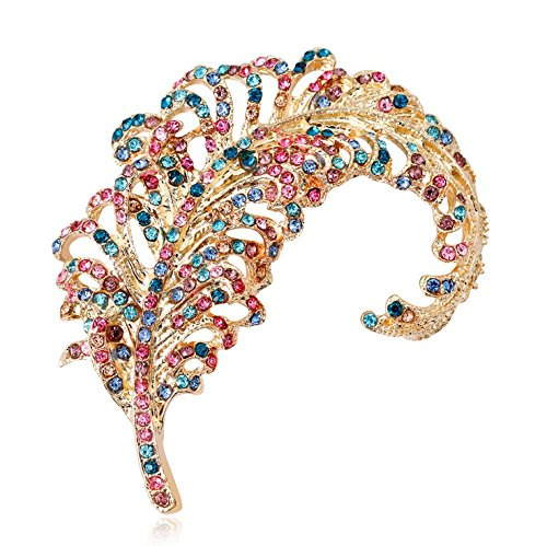 Scrox 1Pcs Women Corsage Brooch Stylish Fashion Feathers Design For Women's Ladies Girls Jewelry Gift