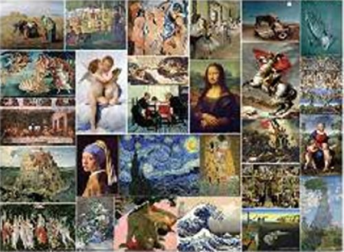 TOMAX Museum Art Collection 1000 Piece Fine Art Collage Jigsaw Puzzle