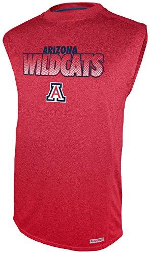 Impact Sleeveless (NCAA Arizona Wildcats Sleeveless Impact Tee, Red, Medium)