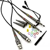 RioRand 100 MHz Oscilloscope Clip Probes with Accessory Kit (Pack of 2)