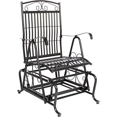 Best Choice Products Patio Iron Rocker Glider Porch Chair