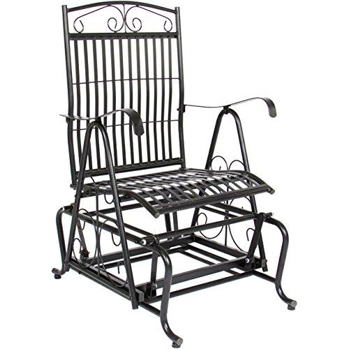 Wrought Iron Rocker Scroll - Best Choice Products Patio Iron Rocker Glider Porch Chair