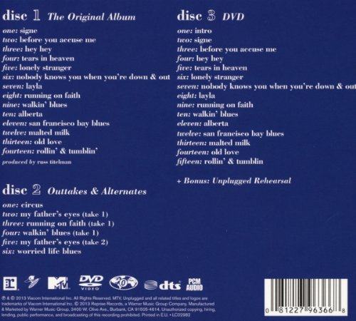 Eric Clapton Unplugged Deluxe Edition Import It All