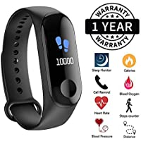Outbolt Smart Wristband Pedometer Fitness Tracker HR Activity Tracker Watch with Heart Rate Monitor Step Tracker Calorie Counter for Kids, Women, and Men(Color Screen,2019 Ver)