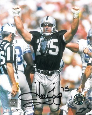 0235fb3b89c Howie Long Signed Autograph Oakland Raiders 8x10 Photo at Amazon's ...