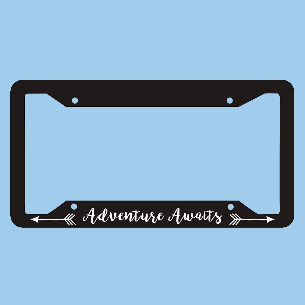 Adventure Awaits License Plate Frame Mountains License Plate Frame Car Accessories License Plate Art 88BoydBertha