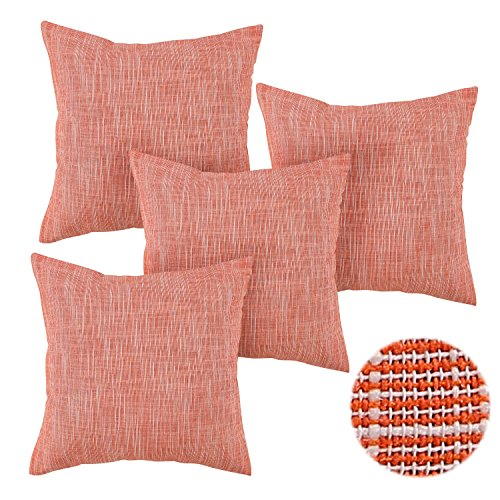Deconovo Stripe Woven Cushion Covers Cotton Linen Pillow Sha