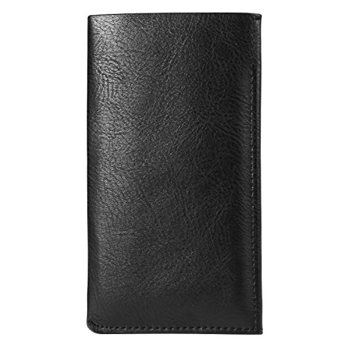 Universal 5.7'' PU Leather Ultra Slim Cellphone Sleeve Wallet Case Holster Pouch Card Holder for Samsung Galaxy Note 8 / S8 Active / S8+ / S8 / Note FE / Apple iPhone 7 Plus (Black) by BaoXinQi (Image #4)