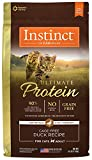 Instinct Ultimate Protein Grain Free Cage Free Duck Recipe Natural Dry Cat Food by Nature's Variety, 4 lb. Bag