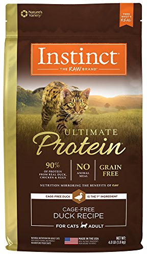 Natures Variety Instinct Duck (Instinct Ultimate Protein Grain Free Cage Free Duck Recipe Natural Dry Cat Food by Nature's Variety, 4 lb. Bag)