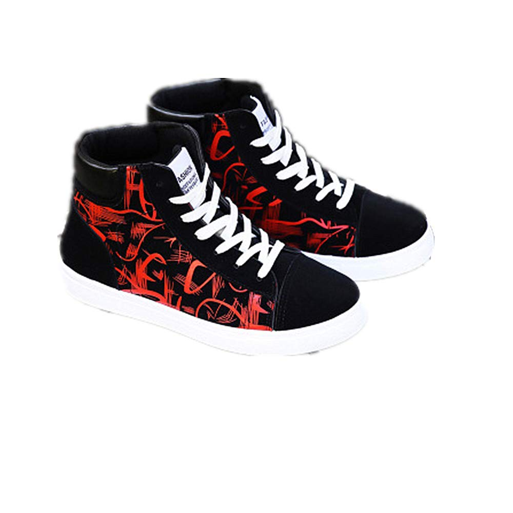 2018 Women's High Top Sneaker Canvas Lace up Fashion Flat Shoes LYLIFE
