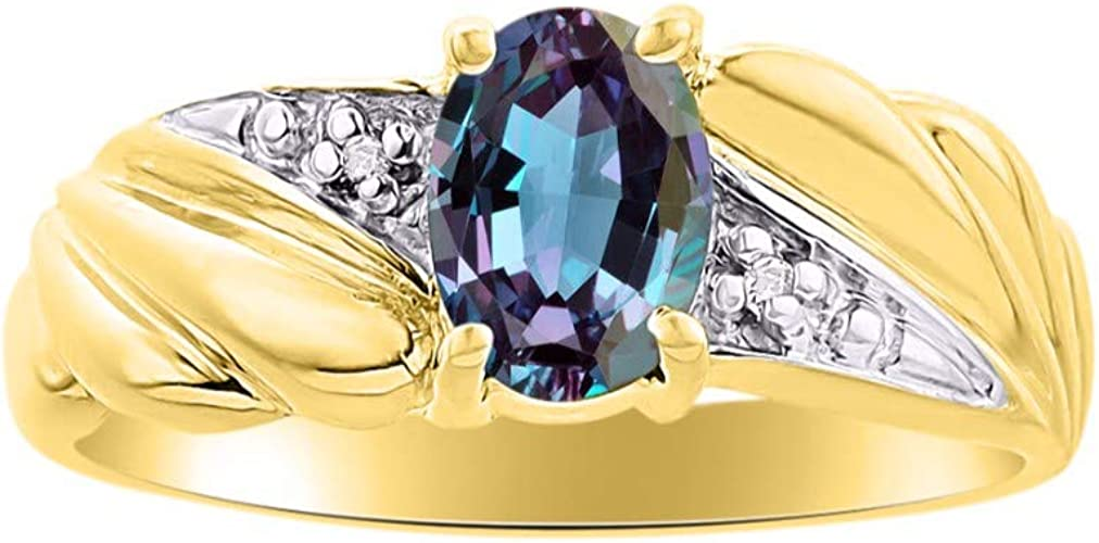 RYLOS Ladies Ring with Oval Shape Star Ruby Gemstone /& Genuine Sparkling Diamonds in Sterling Silver .925-7X5MM Color Stone