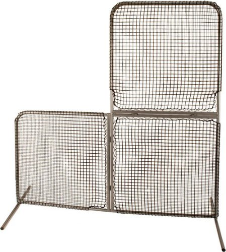 Champion Sports Varsity Folding L Screen (White) by Champion Sports