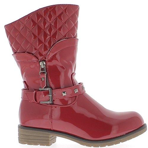 Tacco Chaussmoi Stivali Rosso Riempito 4cm Verniciato Donna xSZI8q