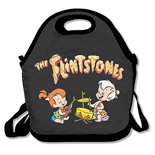 The Flintstones Lunch Bag Lunch Tote, Waterproof Outdoor Travel Picnic Lunch Box Bag Tote With Zipper And Adjustable Crossbody Strap