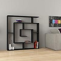 Maze Modern Unique Best Selling 6-Shelf Bookcase Black h:50.8 w:49.2 d:8.6