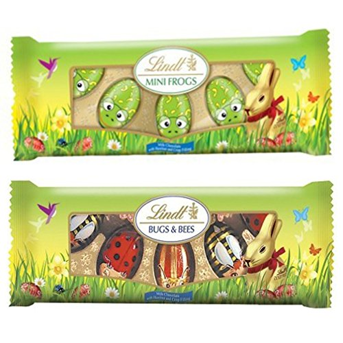 Lindt Easter Chocolate - Mini Frogs, Bugs and Bees 3.52 Oz