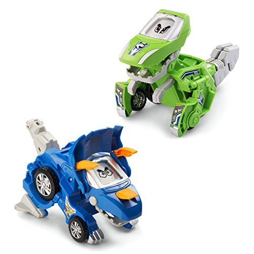 - VTech Switch & Go Dinos Animated Dinos 2-Pack with Sliver and Horns