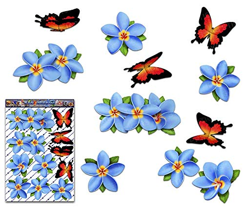JAS Stickers FLOWER Red HIBISCUS Large Pack Car Stickers Decals ST00044/_LGE