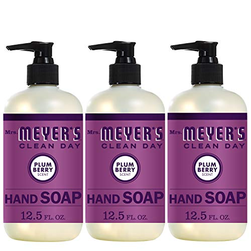 Mrs. Meyer's Clean Day Liquid Hand Soap, Plum Berry Scent, 12.5 Ounce Bottle (Pack of 3)