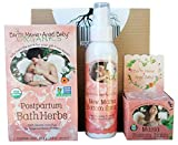 Earth Mama Angel Baby Postpartum Trio | New Mom Bottom Spray, Mama Bottom Balm and Postpartum Bath Herbs |