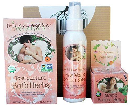 Earth Mama Angel Baby Postpartum Trio | New Mom Bottom Spray