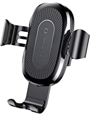 Baseus QI Wireless Car Charger Air Vent Holder Car Mount 10W Wireless Fast Charging Charger Phone Holder for iPhone Xs Max,XR,Xs,X,8/8 Plus,Samsung Galaxy S9 S8 S7/S7 Edge Note 9/8,Qi Enabled Devices