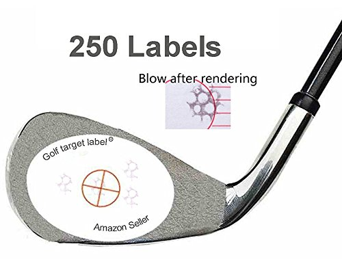(Golf Impact Labels Target Sticker Tape (250) -Standard Impact Label Roll)