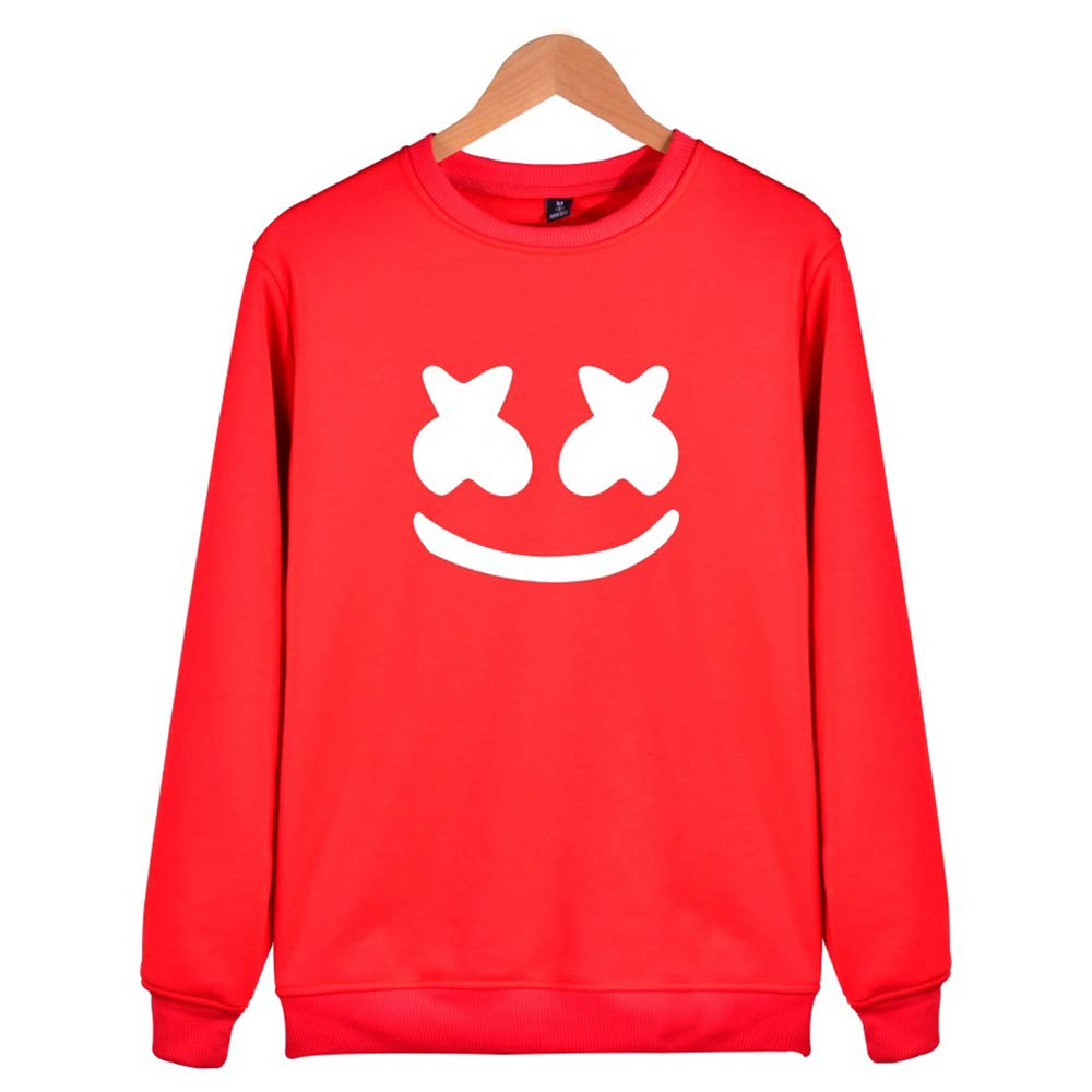 Helen-sky Marshmello Face Sweatshirt Pullovers Long Sleeve Hoodie Autumn Winter Clothing