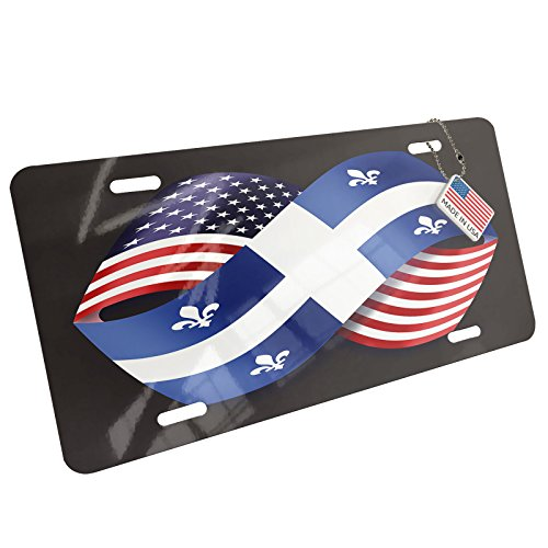 NEONBLOND Metal License Plate Friendship Flags USA for sale  Delivered anywhere in USA