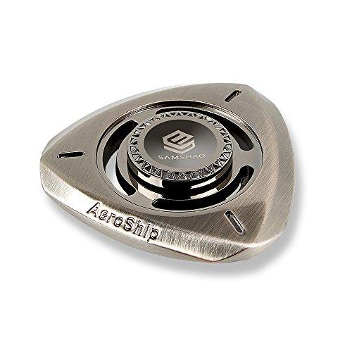 SAMSHAO Fidget Spinner Aeroship Design Sturdy Zinc Alloy Stainless Steel Bearing Balls EDC Hand Toy ADHD Focus