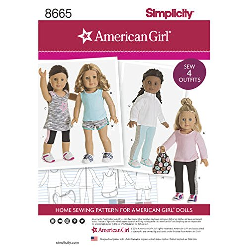 Doll Simplicity Clothing (Simplicity Patterns US8665OS Crafts, (One Size))