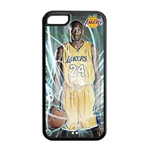 LA Lakers Kobe Bryant Image Design iPhone 5C TPU Case-by Allthingsbasketball