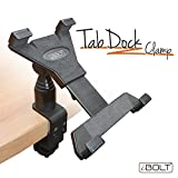 iBOLT TabDock Clamp- Heavy Duty C-Clamp mount for all 7'' - 10'' tablets ( iPad , Nexus, Samsung Tab ) For Desks, Tables, Wheelchairs, Carts, etc : Great For Homes, Schools, and Offices
