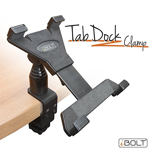 iBOLT TabDock Clamp- Heavy Duty C-Clamp mount for all 7'' - 10'' tablets ( iPad , Nexus, Samsung Tab ) For Desks, Tables, Wheelchairs, Carts, etc : Great For Homes, Schools, and Offices by iBOLT