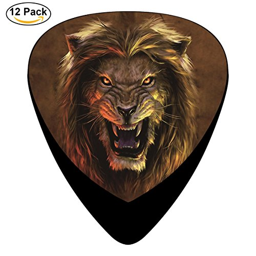 Beast Lion Celluloid Guitar Picks 12 Pack Includes Thin,Medium,Heavy Gauges For Electric Acoustic Guitar