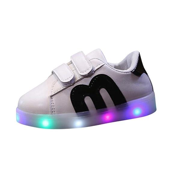 92bdaa42 Calzado Deportivo para bebés, ❤ Manadlian Niño emisores de Luces LED Zapatos  Casuales Zapatos de Piel Brillante niños y niñas de Calzado Deportivo de ...