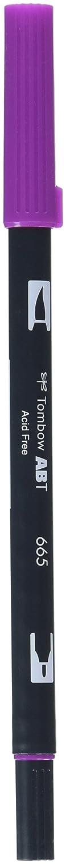 Rotulador de punta doble color rojo Tombow 835 Persimmon