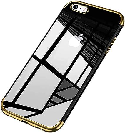 Coque iPhone 6,Coque iPhone 6S,Surakey Chrome Placage Bumper Transparente TPU Silicone Housse Etui de Protection Bumper et Anti-Scratch Téléphone ...